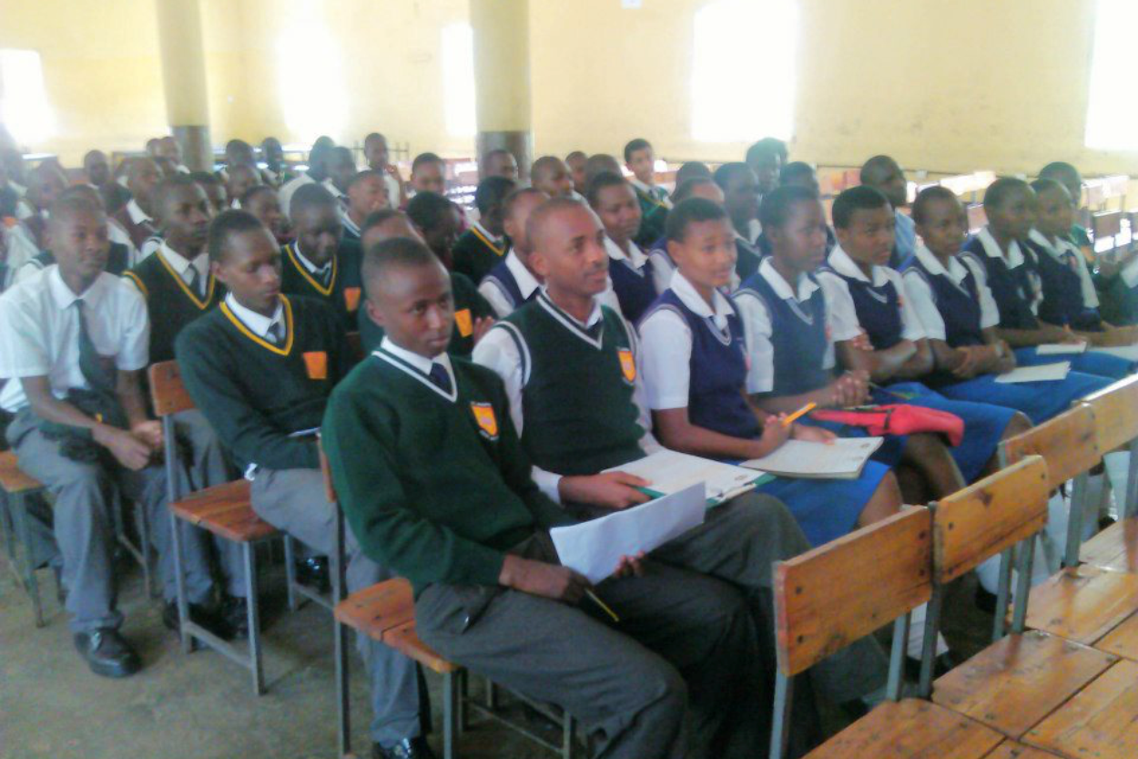 Students gather in Nairobi to challenge gender stereotypes in schools.