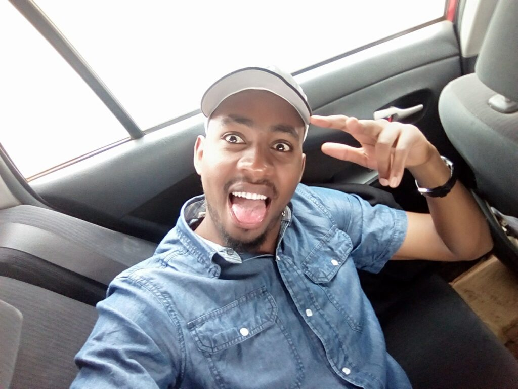 Churchill Show comedian Jasper Murume making a face