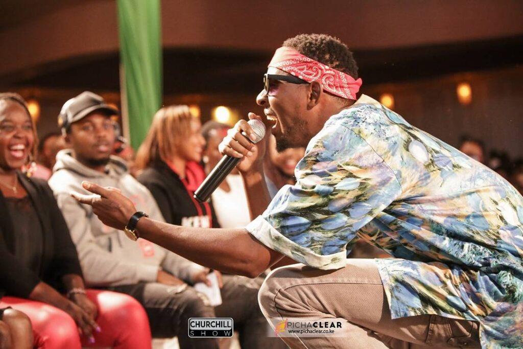Jasper Murume sharing a joke at the Churchill Show